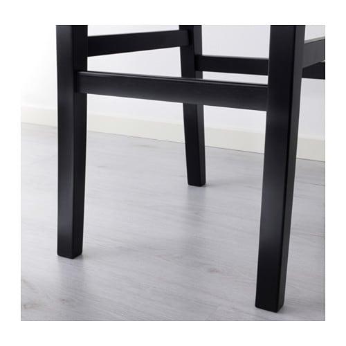 ingolf bar stool with backrest brown black 74 cm ikea. Black Bedroom Furniture Sets. Home Design Ideas