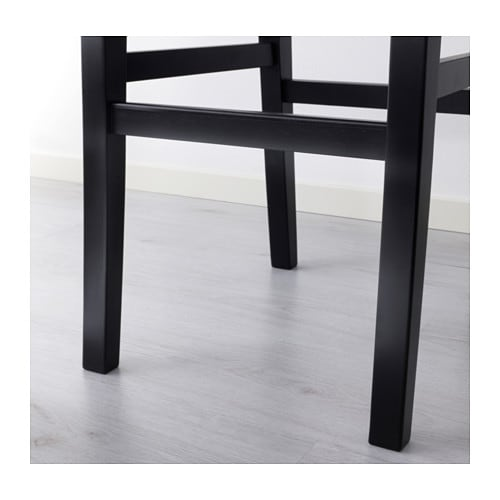 Ingolf Bar Stool With Backrest Brown Black 74 Cm Ikea
