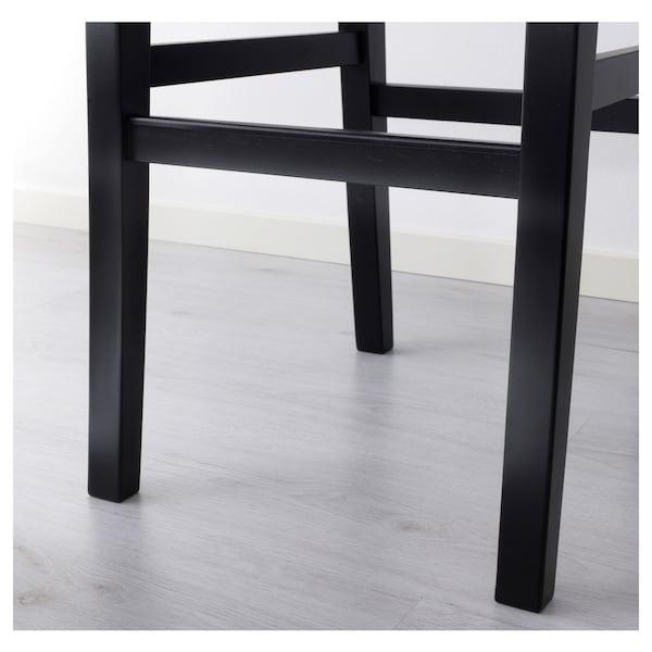 INGOLF Bar stool with backrest, brown-black, 74 cm