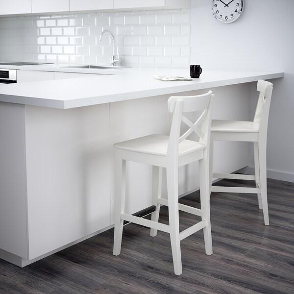 INGOLF bar stool with backrest white 110 kg 40 cm 45 cm 91 cm 40 cm 35 cm 63 cm