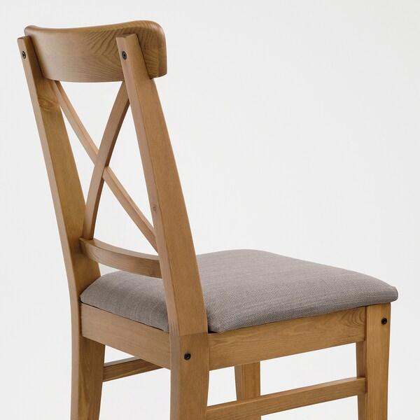 INGOLF Chair, antique stain/Nolhaga grey-beige