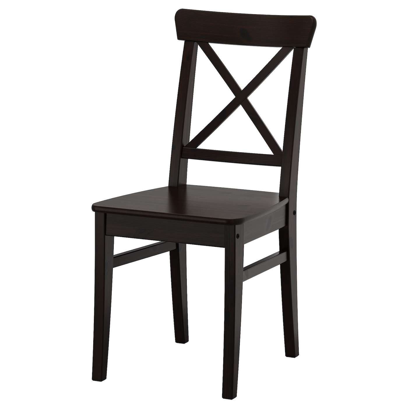Ingolf chair brown black ikea for Chaise noire ikea