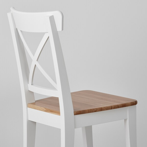 INGOLF Chair, light antique stain/white