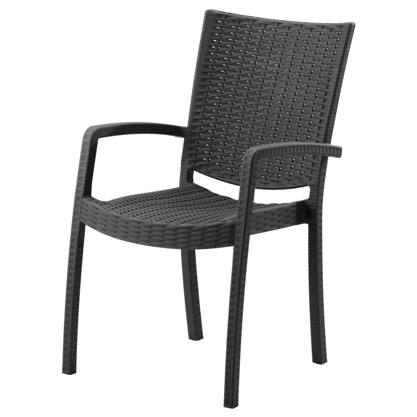 innamo chair with armrests outdoor dark grey ikea. Black Bedroom Furniture Sets. Home Design Ideas