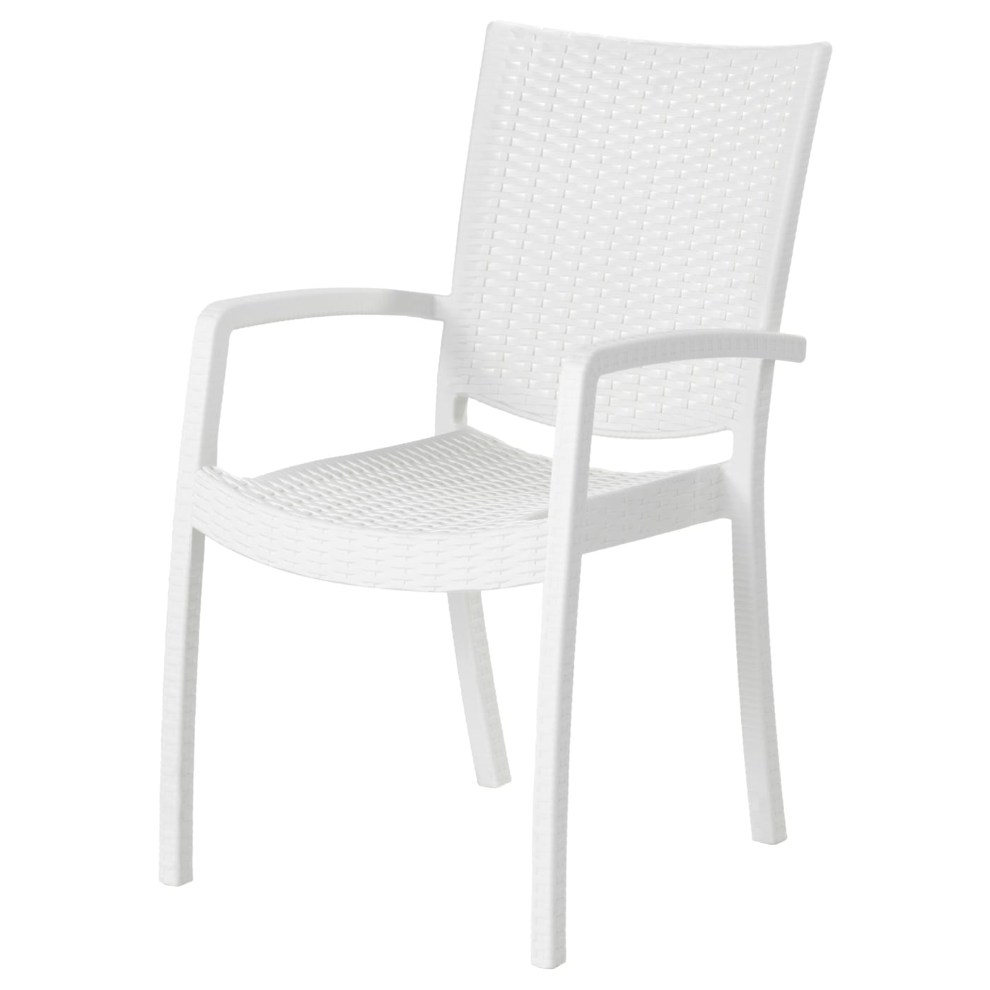 innamo chair with armrests outdoor white ikea. Black Bedroom Furniture Sets. Home Design Ideas