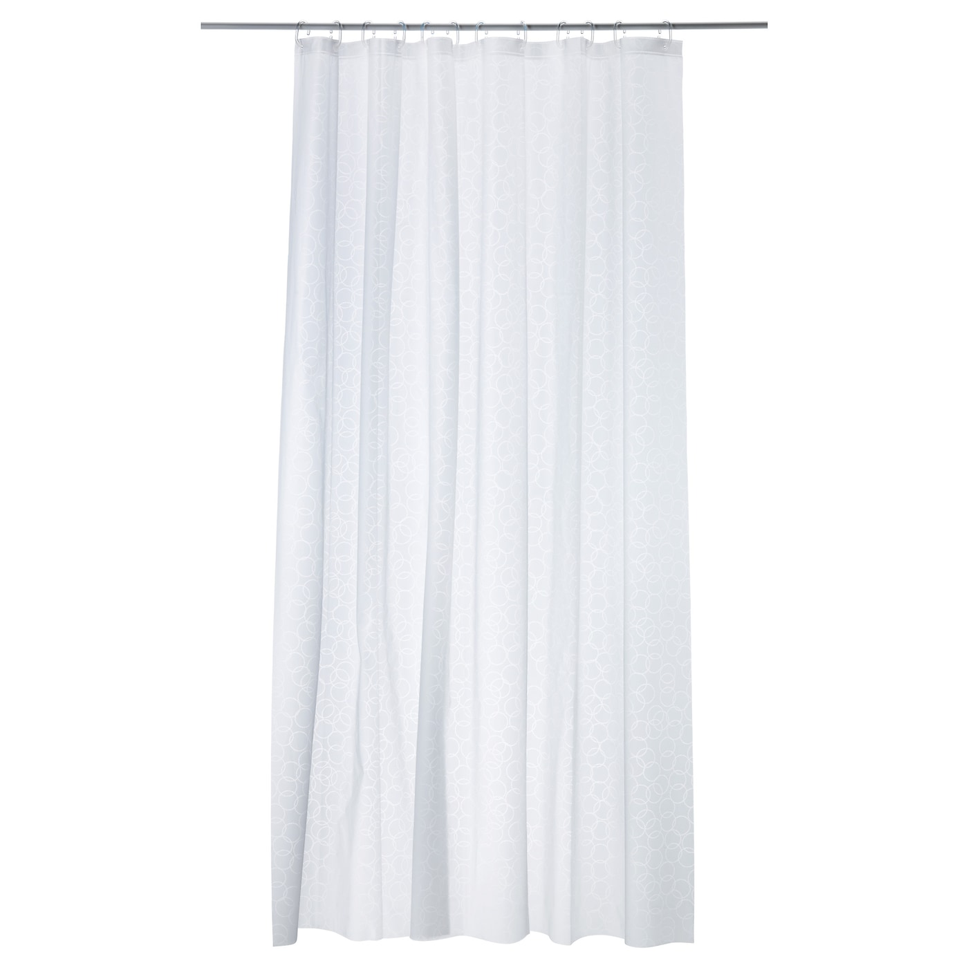 white shower curtain. IKEA INNAREN Shower Curtain Can Be Easily Cut To The Desired Length. White A