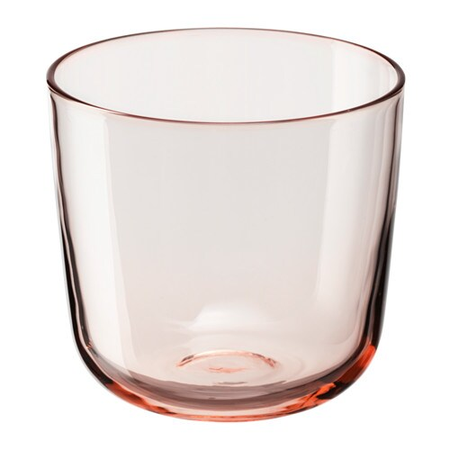 Intagande Glass Light Pink 26 Cl Ikea