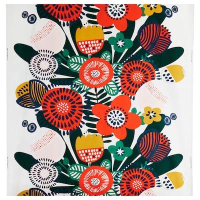 IRMELIN Fabric, white/multicolour, 150 cm