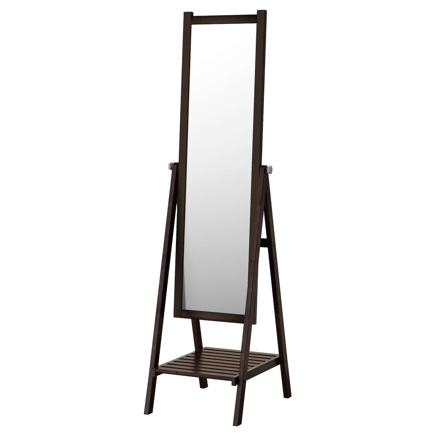 Isfjorden standing mirror black brown stain 47x182 cm ikea for Where to find mirrors