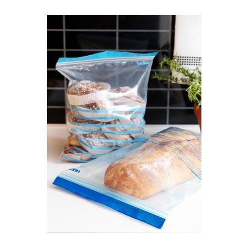 ikea istad plastic resealable ziplock storage bags freezer sandwiches food b786. Black Bedroom Furniture Sets. Home Design Ideas