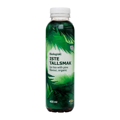 IKEA ISTE TALLSMAK ice tea with pine flavour No chemical pesticides or fertilizers have been used.