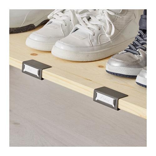 Ivar 2 sections shelves cabinets pine grey 134x30x179 cm