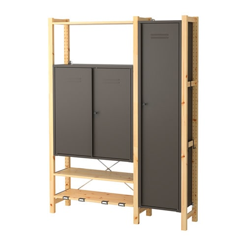 IKEA IVAR 2 sections/shelves/cabinets You can move shelves and adapt spacing to suit your needs.