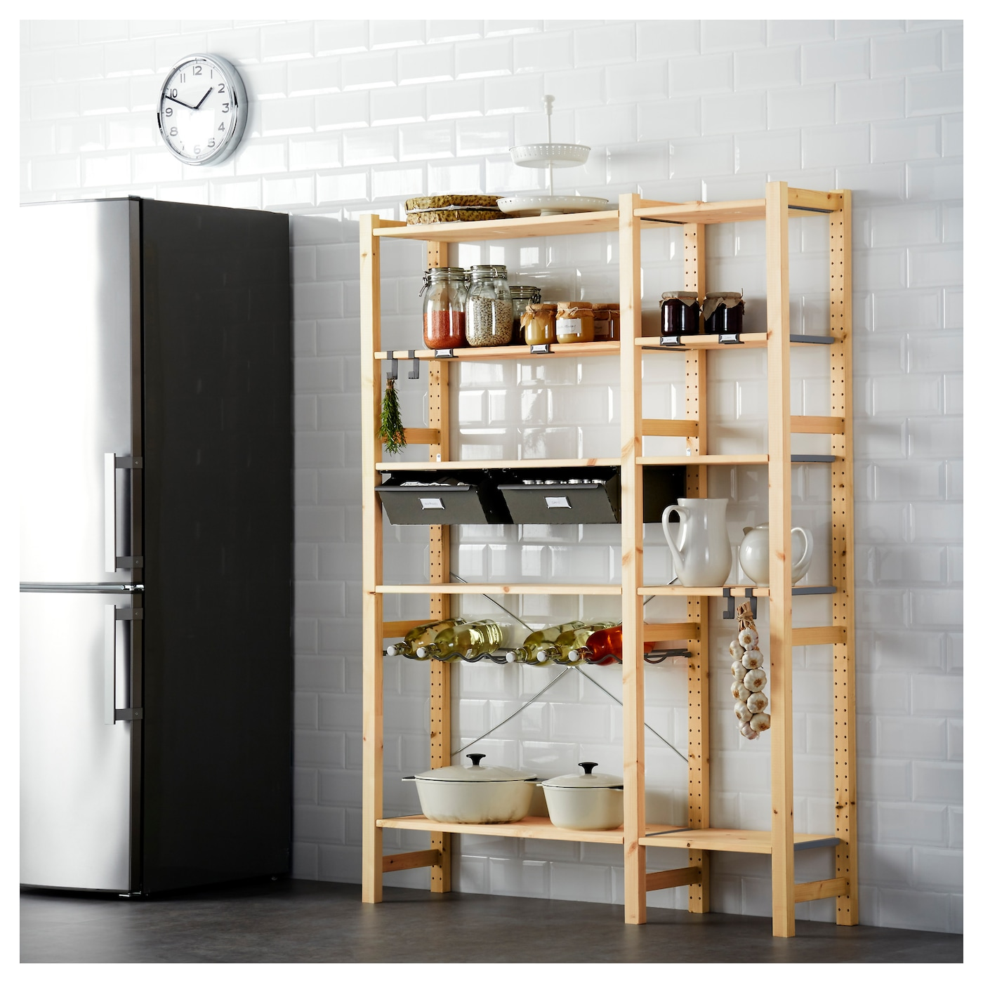 IKEA IVAR 2 sections/shelves/drawers You can move shelves and adapt spacing to suit your needs.