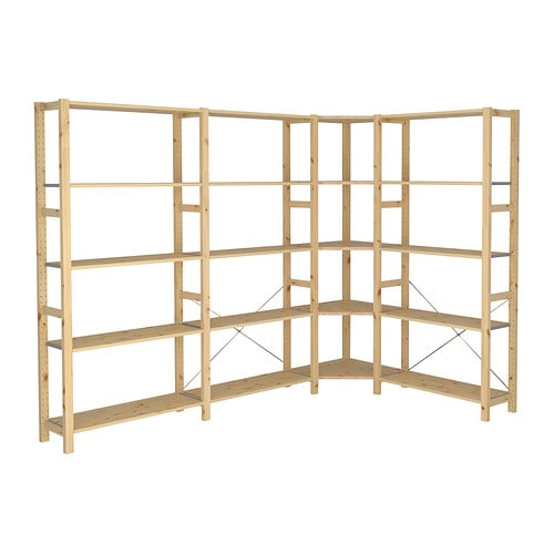 IKEA IVAR 4 sections/corner You can move shelves and adapt spacing to suit your needs.