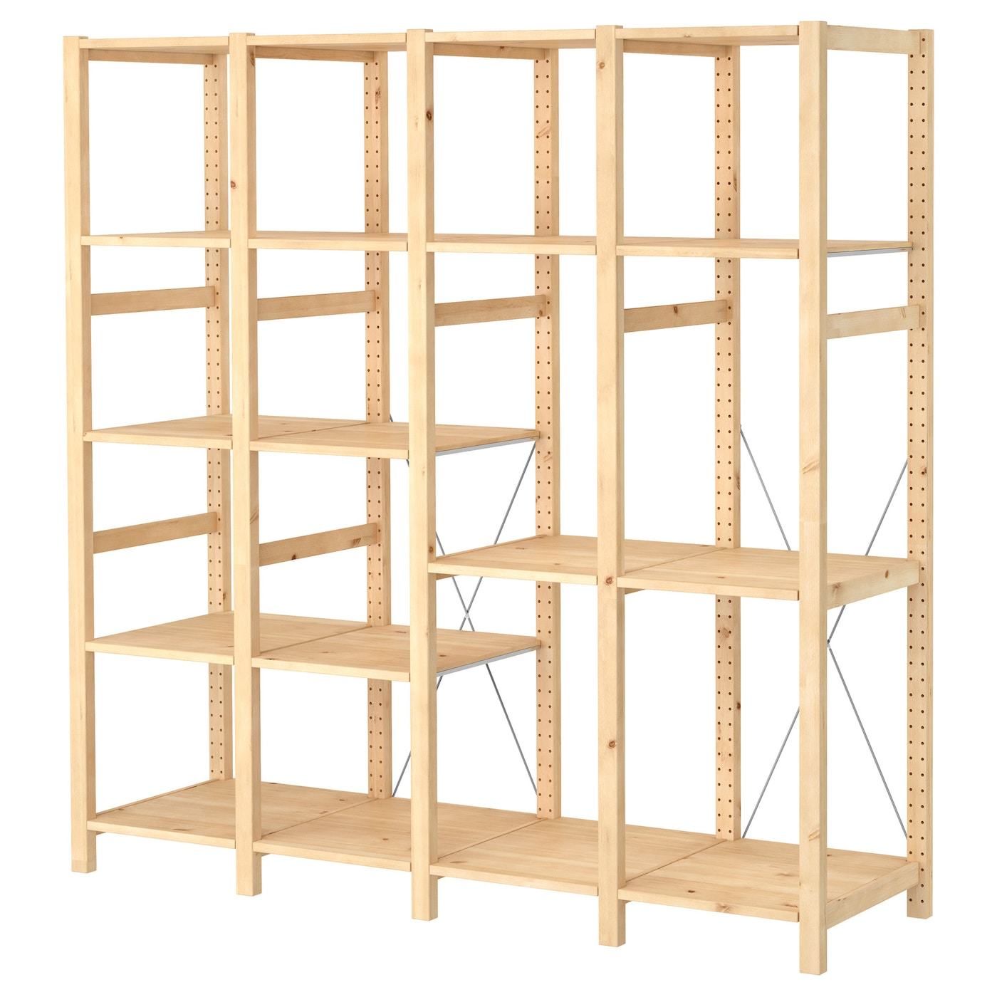ivar 4 sections shelves pine 179x50x179 cm ikea. Black Bedroom Furniture Sets. Home Design Ideas