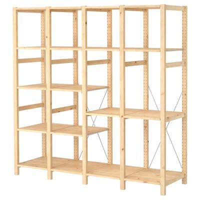 IVAR 4 sections/shelves, pine, 179x50x179 cm