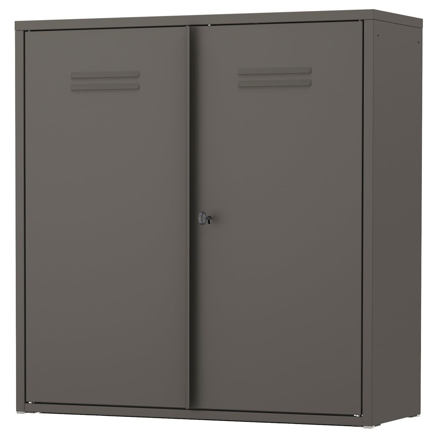 ivar cabinet with doors grey 80x83 cm ikea. Black Bedroom Furniture Sets. Home Design Ideas