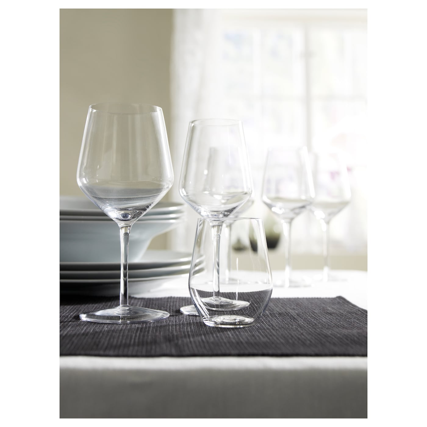 IKEA IVRIG white wine glass