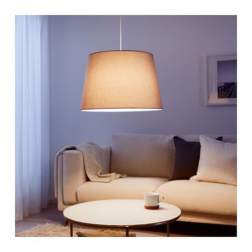j ra pendant lamp shade grey 55 cm ikea. Black Bedroom Furniture Sets. Home Design Ideas