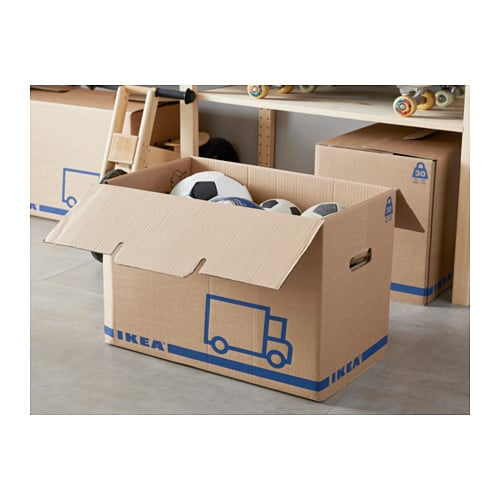 j ttene packaging box brown 56x33x41 cm ikea. Black Bedroom Furniture Sets. Home Design Ideas