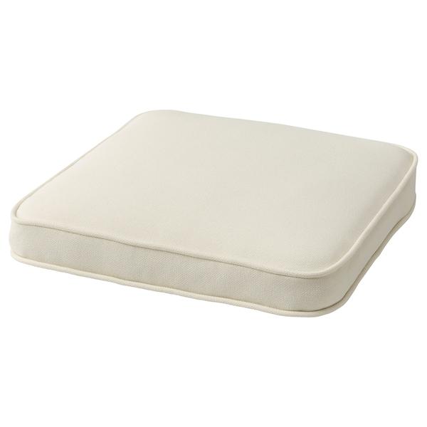 JÄRPÖN Cover for chair cushion, outdoor white, 44x44 cm