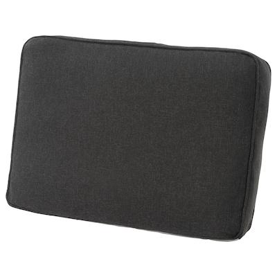 JÄRPÖN/DUVHOLMEN Back cushion, outdoor, anthracite, 62x44 cm