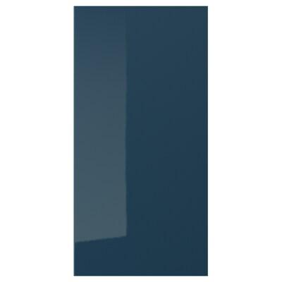 JÄRSTA Door, high-gloss black-blue, 40x80 cm