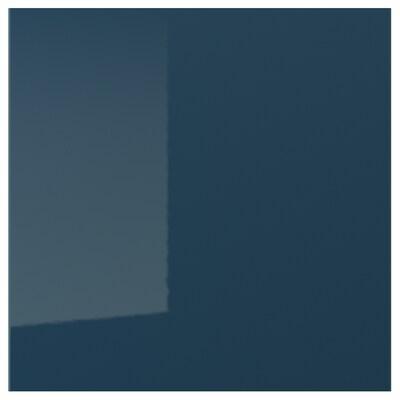 JÄRSTA Door, high-gloss black-blue, 60x60 cm
