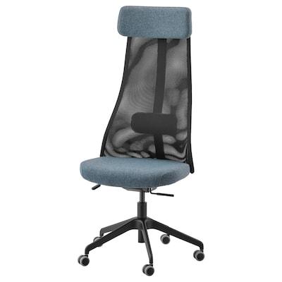 JÄRVFJÄLLET Office chair, Gunnared blue