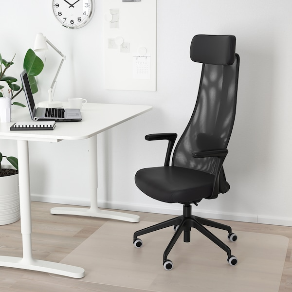 Jarvfjallet Glose Black Office Chair With Armrests Ikea