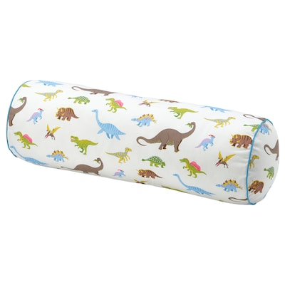JÄTTELIK Cushion, dinosaur/multicolour, 80 cm