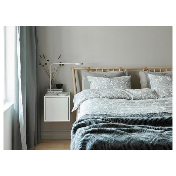 JÄTTEVALLMO quilt cover and 2 pillowcases white/grey 2 pack 200 cm 200 cm 50 cm 80 cm