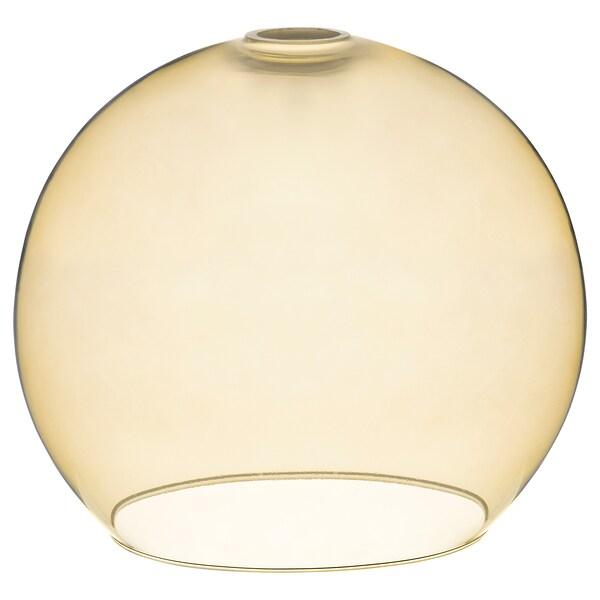JAKOBSBYN Pendant lamp shade, light brown, 30 cm