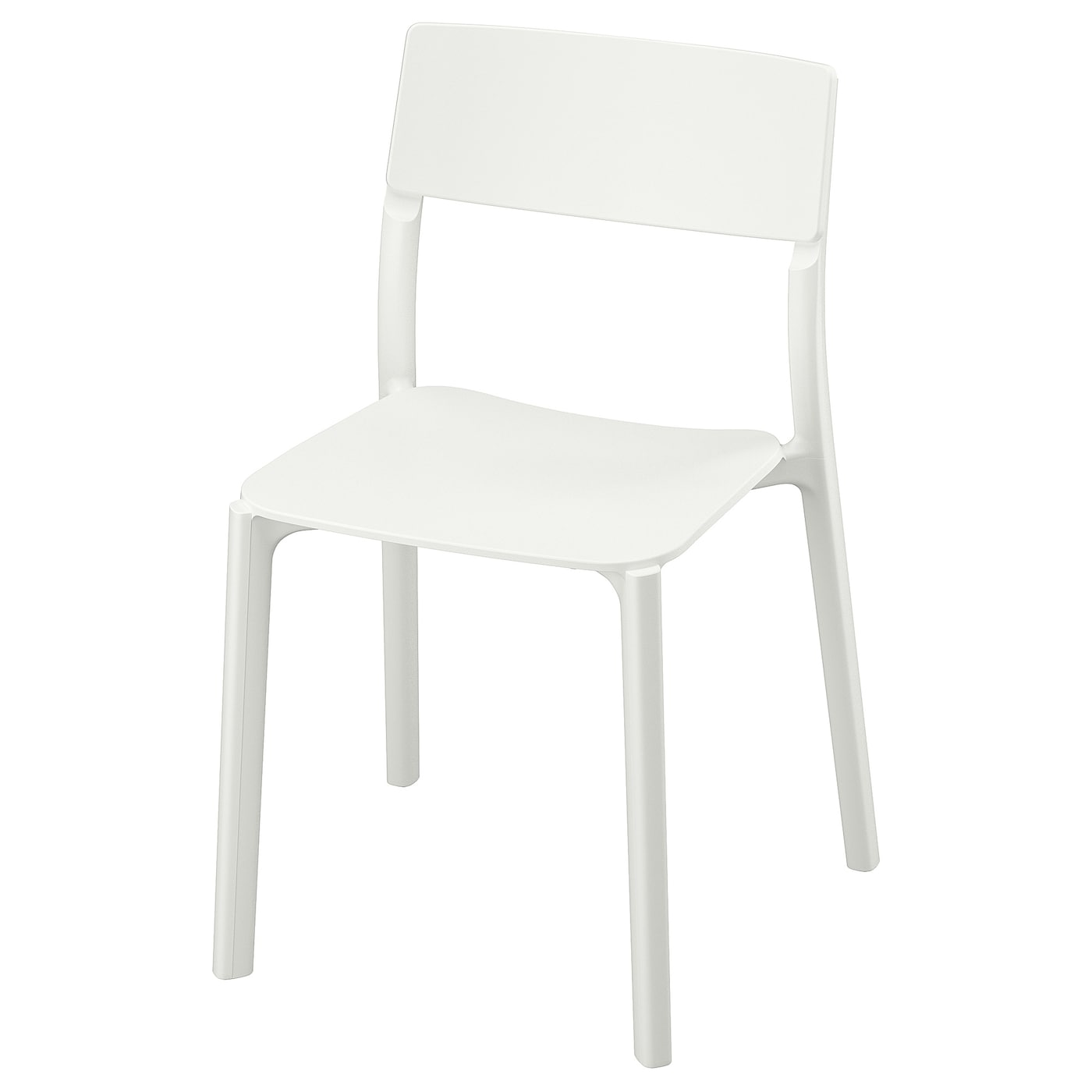 IKEA JANINGE chair You can stack the chairs, so they take less space when you're not using them.