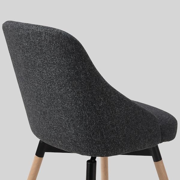 JANOLOF Swivel chair, Gunnared dark grey