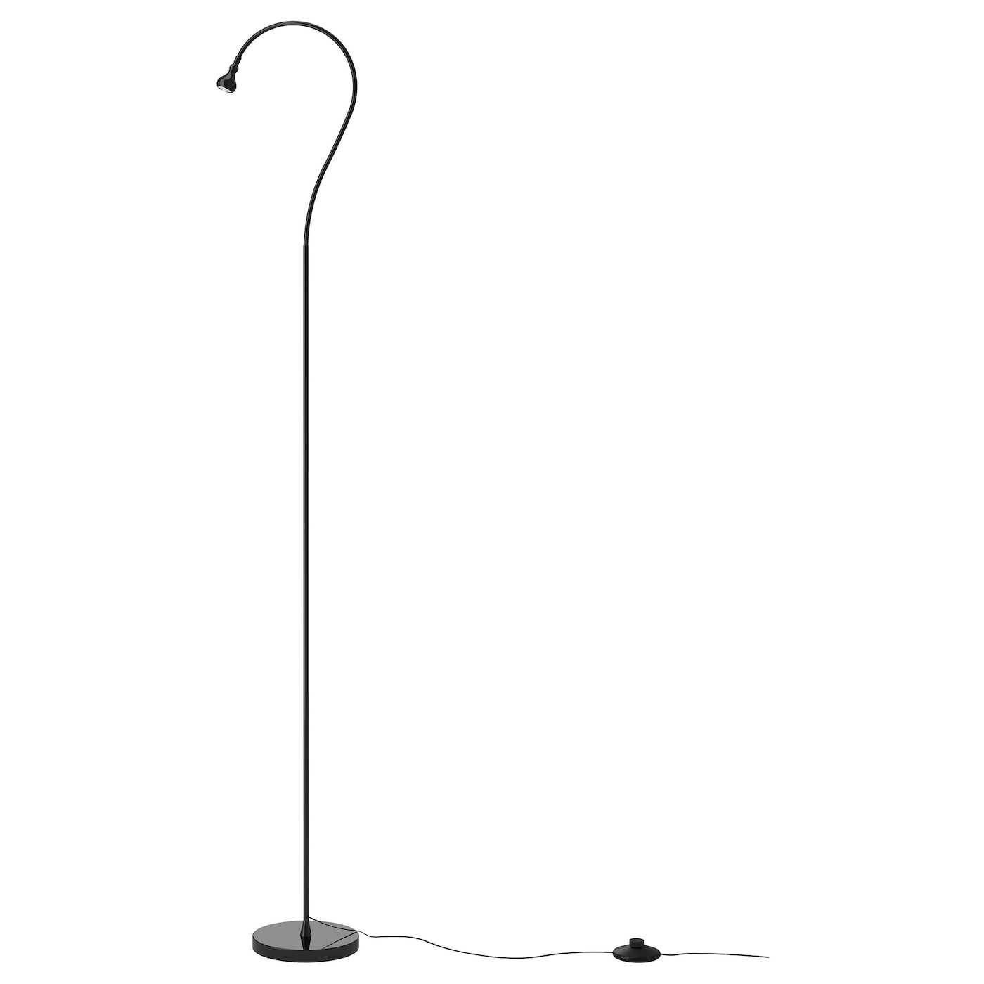jansj led floor read lamp black ikea. Black Bedroom Furniture Sets. Home Design Ideas