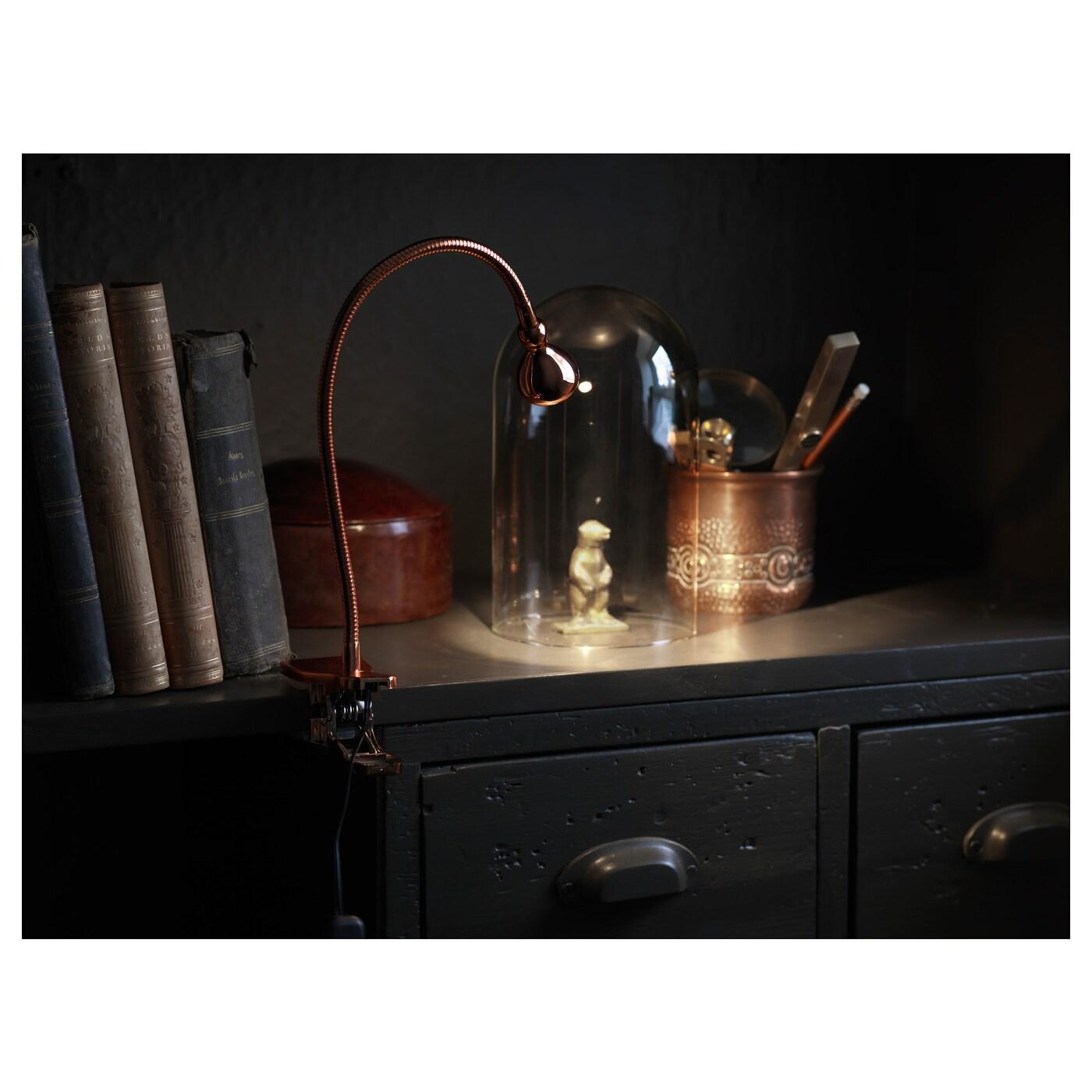 Jansj Led Wall Clamp Spotlight Copper Colour Ikea # Couleur Ikea