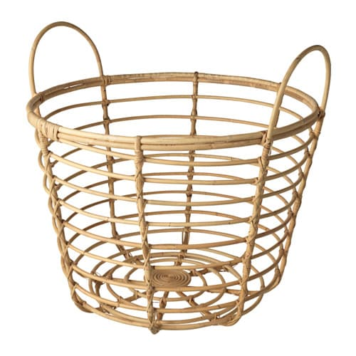 jassa basket with handles rattan 70 cm ikea. Black Bedroom Furniture Sets. Home Design Ideas