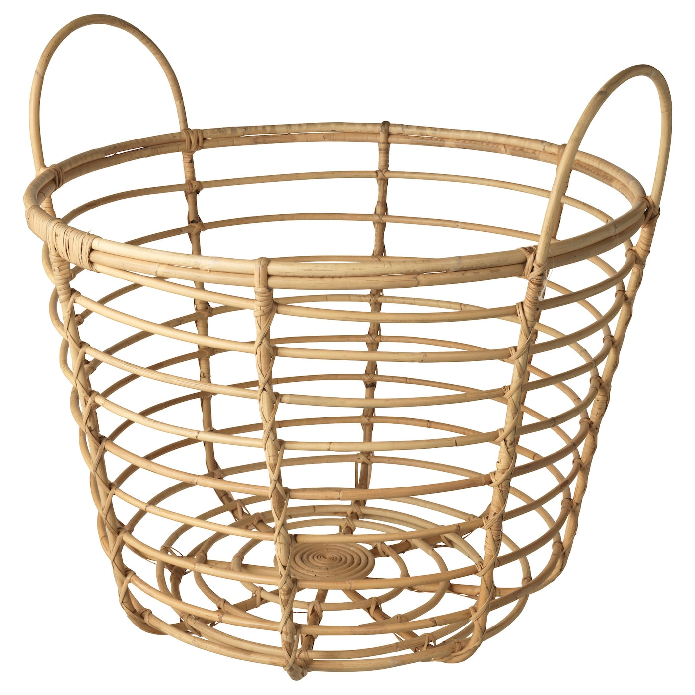 IKEA JASSA basket with handles Handmade by skilled craftspeople, which makes every product unique.