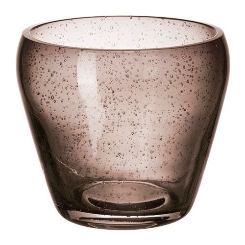 JÄTTEBRA Plant pot IKEA The decorative bubbles in the glass are accentuated when light shines through the pot.