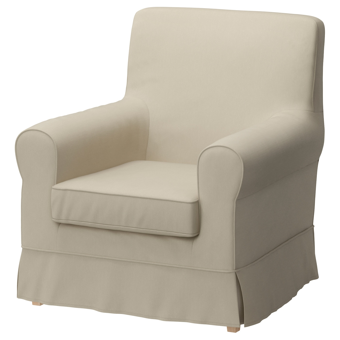 JENNYLUND Armchair cover Ramna beige IKEA