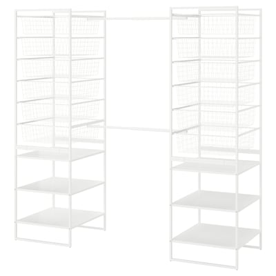JONAXEL Frame/wire baskets/clothes rails, white, 142-178x51x173 cm