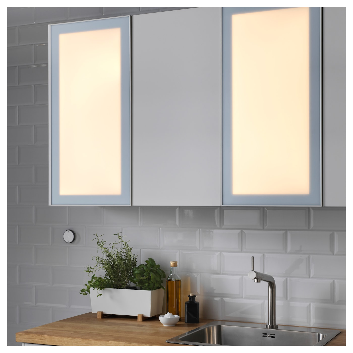 jormlien led light door w wireless control dimmable white