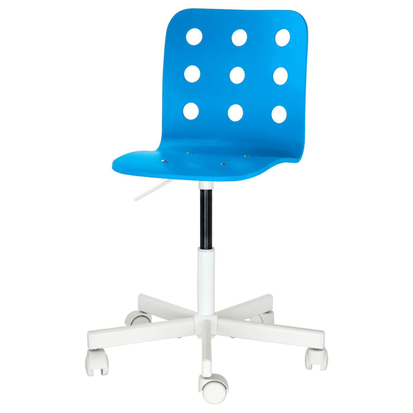 Jules children 39 s desk chair blue white ikea for Chaise de bureau ikea
