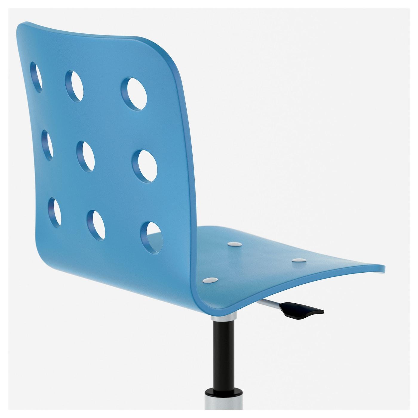 jules junior desk chair blue silver colour ikea. Black Bedroom Furniture Sets. Home Design Ideas