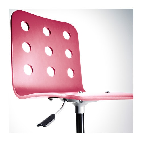 jules junior desk chair pink silver colour ikea. Black Bedroom Furniture Sets. Home Design Ideas