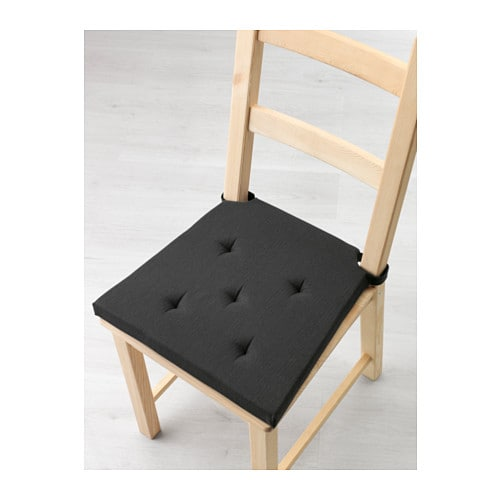 justina chair pad grey black 35 42x40x4 0 cm ikea. Black Bedroom Furniture Sets. Home Design Ideas