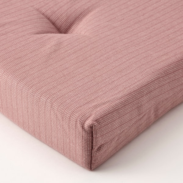JUSTINA Chair pad, pink, 42/35x40x4 cm