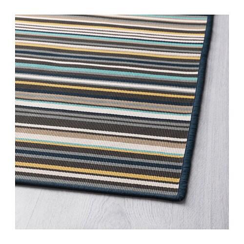 Ikea Striped Rug Runner: KÄRBÄK Rug Flatwoven, In/outdoor Multicolour 170x240 Cm